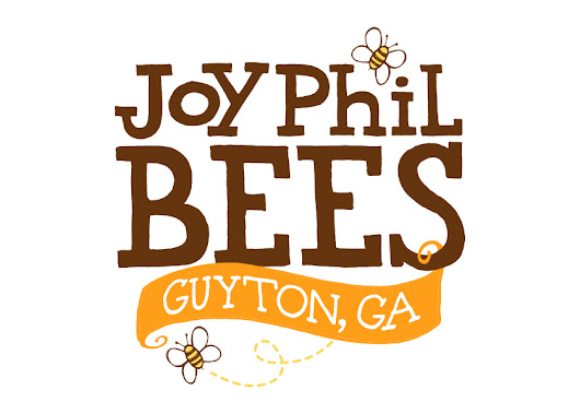 Custom Logo Design - JoyPhil Bees Honey Label - Steph Calvert Art