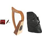 Roosebeck Baby Celtic Harp 12-String w/ Bluetooth Speaker+ Gig Bag + Extra Strings