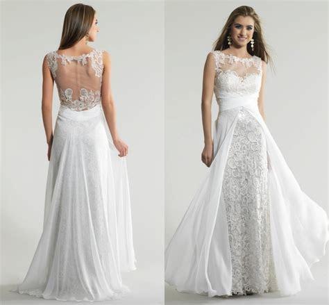 White Flowy Chiffon Dress Other dresses dressesss