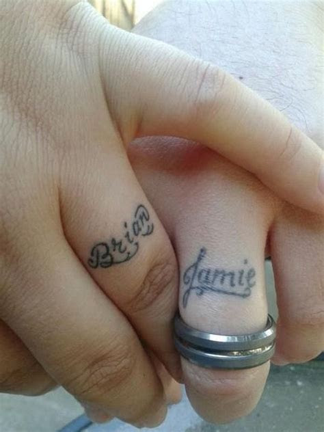 Tattoo Wedding Ring With Name   CreativeFan