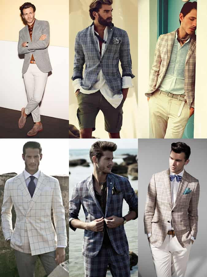 Men's Checked Blazers and Sports Coats Lookbook