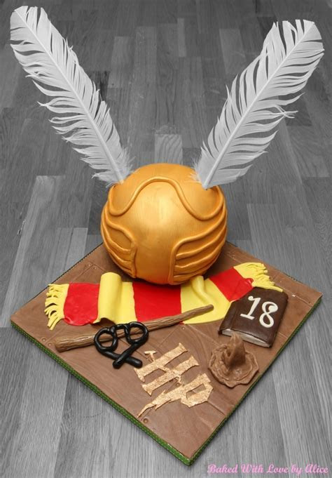 Harry Potter   Golden Snitch Cake   Baked With Love by Alice