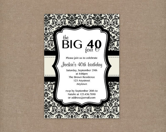 Free Printable Surprise 40th Birthday Party Invitations - Wedding ...