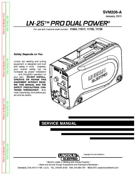LINCOLN ELECTRIC SVM206-A LN-25 PRO DUAL POWER Service