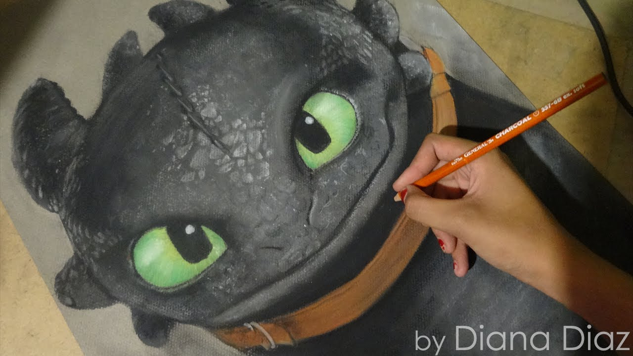 Speed Drawing Toothless Chimuelo How To Train Your Dragon