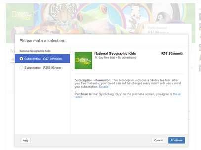 Pagamento pode ser mensal ou, dependendo do canal, oferecer desconto para assinatura anual Foto: Reprodução