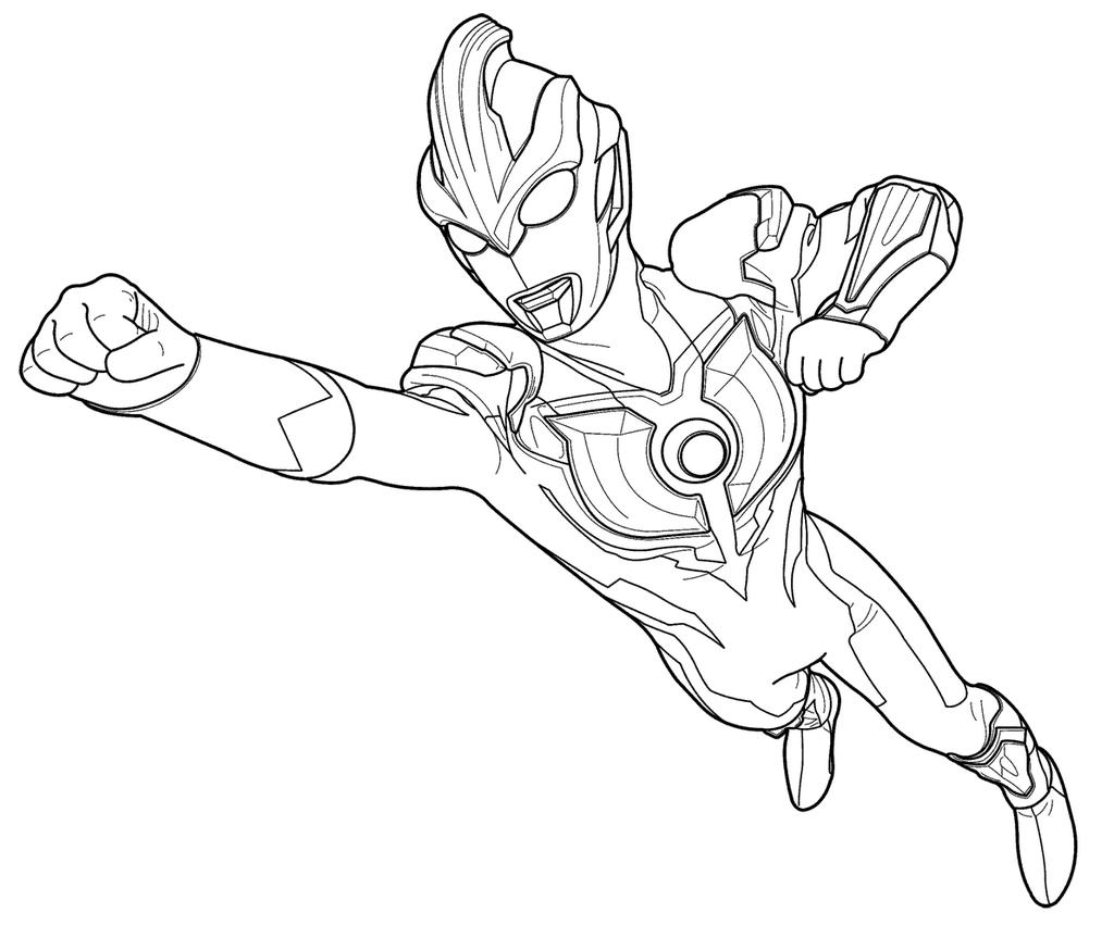 catatanku anak desa Gambar Mewarnai Ultraman Geed