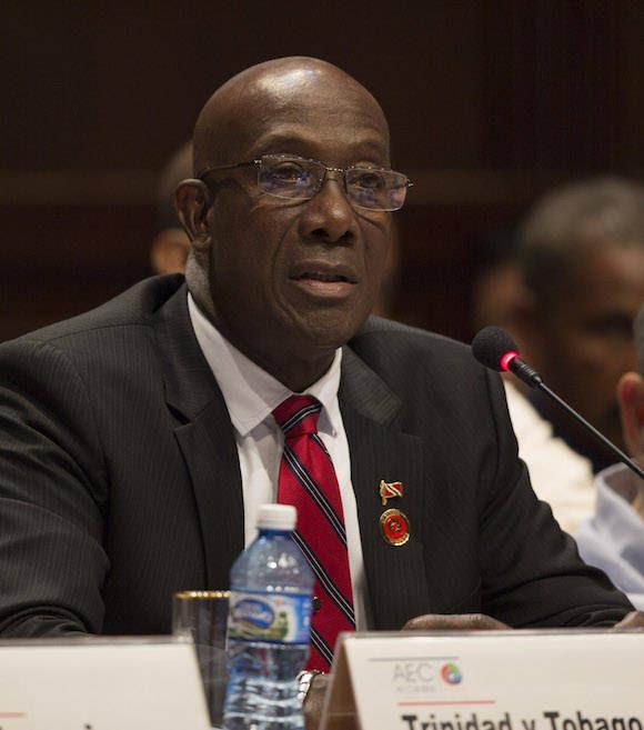El Primer Ministro Trinidad y Tobago, Keith Rowley interviene en la Cumbre. Foto: Ismael Francisco/ Cubadebate