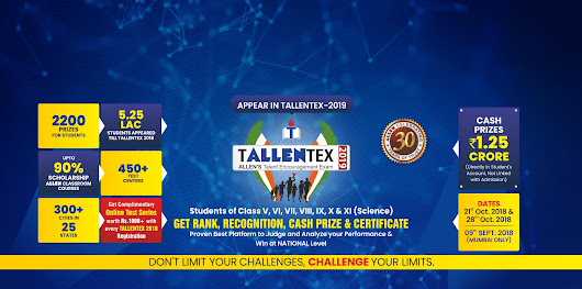 TALLENTEX 2019: ALLEN Talent Search, Encouragement and scholarship Exam