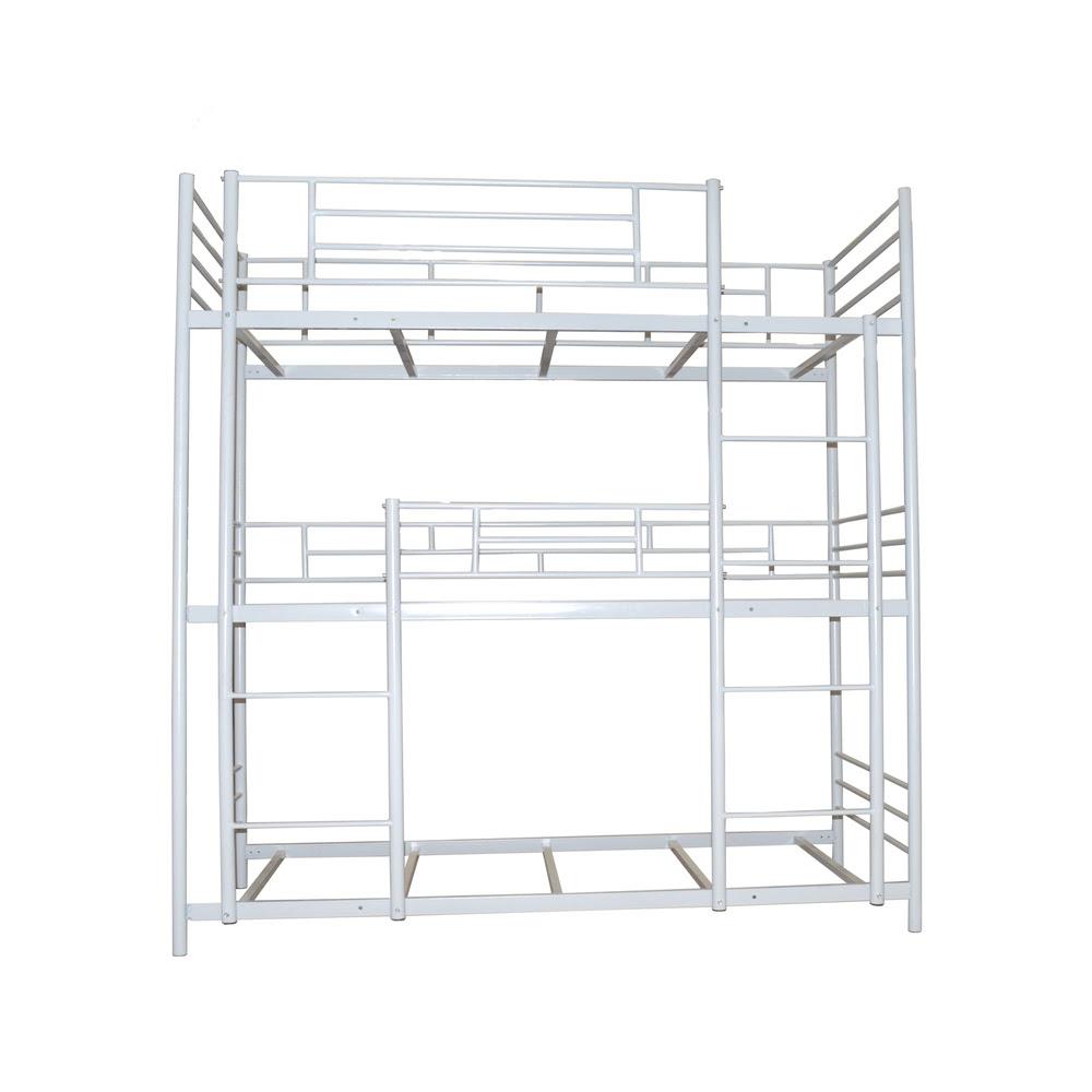 Metal Steel Triple Bunk Bed With Stairs  Buy Triple Bunk Bed,Triple Bunk Bed With Stairs,Triple