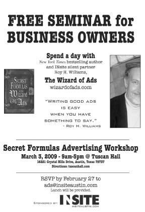 Secret Formulas Advertising Workshop