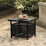 PHI VILLA Outdoor Bistro Table with Umbrella Hole