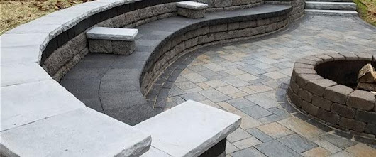 Retaining walls create attractive outdoor seating options