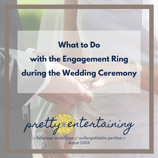 what to do with your engagement ring during the wedding ceremony