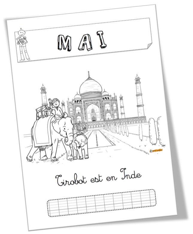 Affichage Et Coloriage Du Mois De Mai Tirobot En Inde Bout De Gomme
