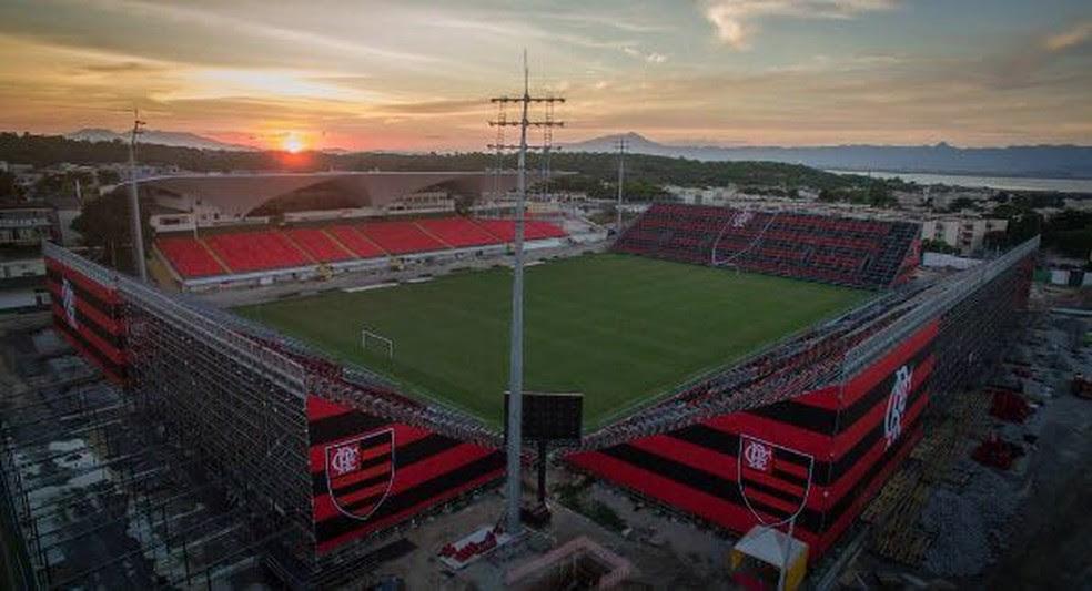 Flamengo estreia na Arena da Ilha contra o Atlético-GO (Foto: Divulgação/Flamengo)