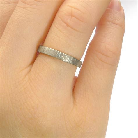 3mm Urban Flat Wedding Ring in 18ct White Gold or Platinum