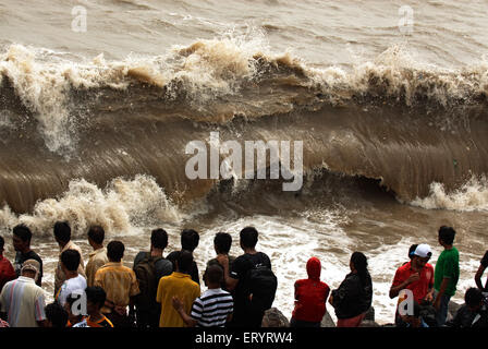 Image result for waves  over the walls at marine drive