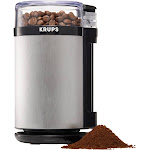 Krups - Electric Spice Herbs and Coffee Grinder - Silver/Black