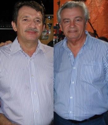 Magno Bacelar ao lado de Arnaldo Melo