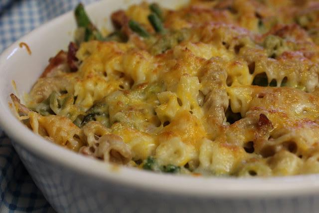 Creamy Rotini with Ham and Asparagus