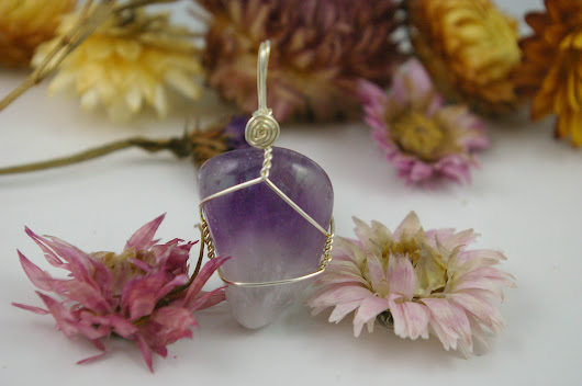 Calm those naggy thoughts! Amethyst healing crystal