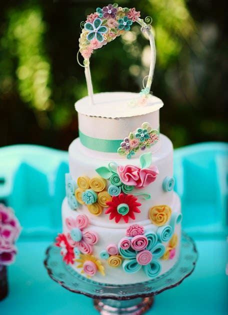 All Things Paper: Utterly Engaged Quilled Wedding Cake