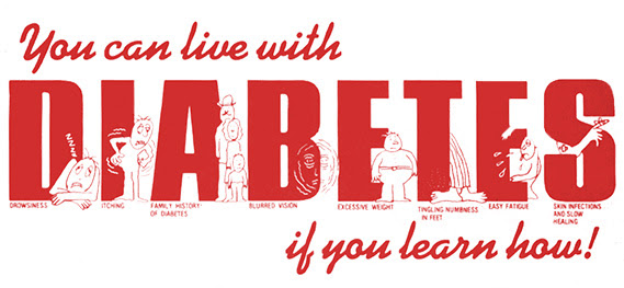 Diabetes poster. You can live with Diabetes if you learn how!