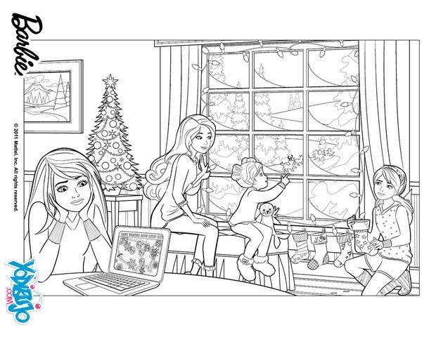 Dibujos De Barbie En Una Navidad Perfecta Para Colorear 16 Laminas