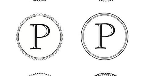 Printable letters, Monograms and Martha stewart on Pinterest
