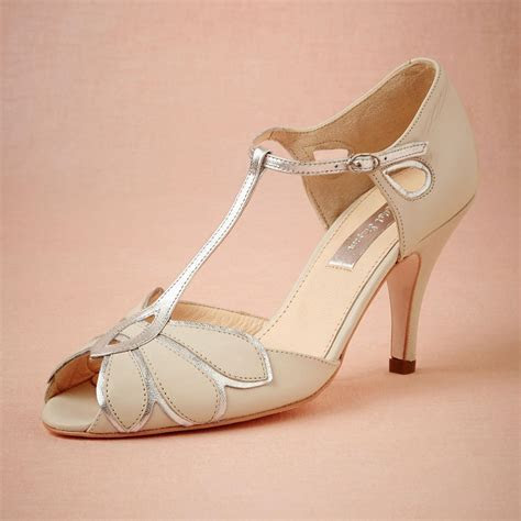 Vintage Ivory Wedding Shoes Wedding Pumps Mimosa T Straps