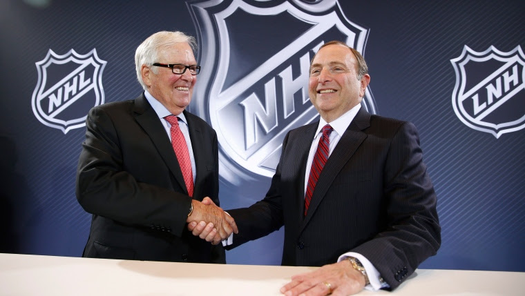 Gary Bettman et Bill Foley