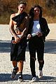 justin bieber goes shirtless on hike with female friend 01