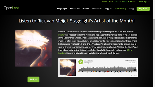 I'm Stagelight Artist of the month!