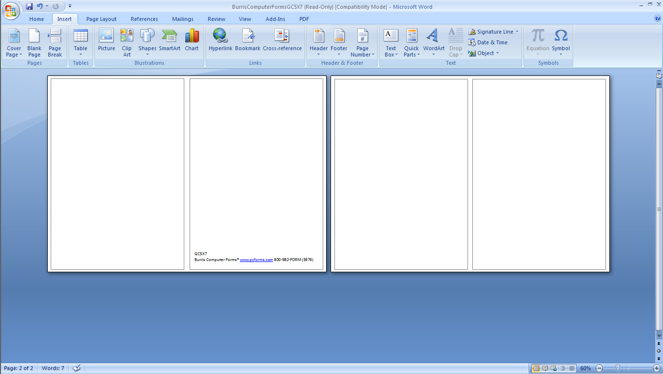 hcwt step 2a open blank template in microsoft word or publisher