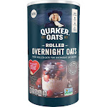 Quaker Rolled Overnight Oats, 19 oz Canister, Size: 19 fl oz