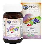 Garden of Life mykind Organics Prenatal Once Daily Whole Food Multivitamin, 30 Vegetarian Tablets