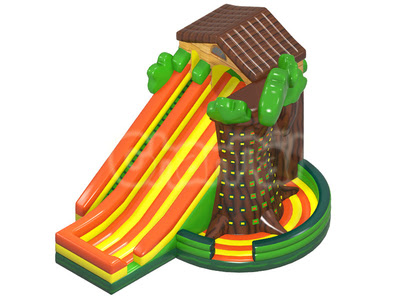 Tree House Inflatable Dry Slide - Channal Inflatables