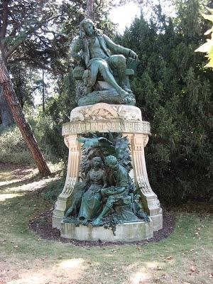 Büste Bernhardin-de-Saint-Pierre im Jardin des Plantes Paris Foto Brandt