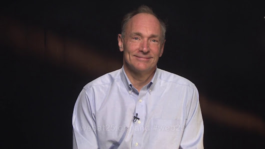 Greeting from Web inventor Tim Berners-Lee on the Web's 25th anniversary