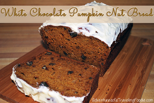 White Chocolate Pumpkin Nut Bread Recipe