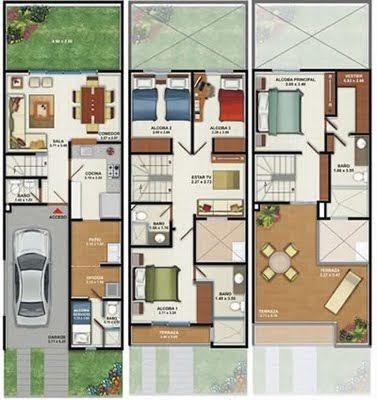 Casa De Este Alojamiento Diseno De Casa 2 Pisos Autocad