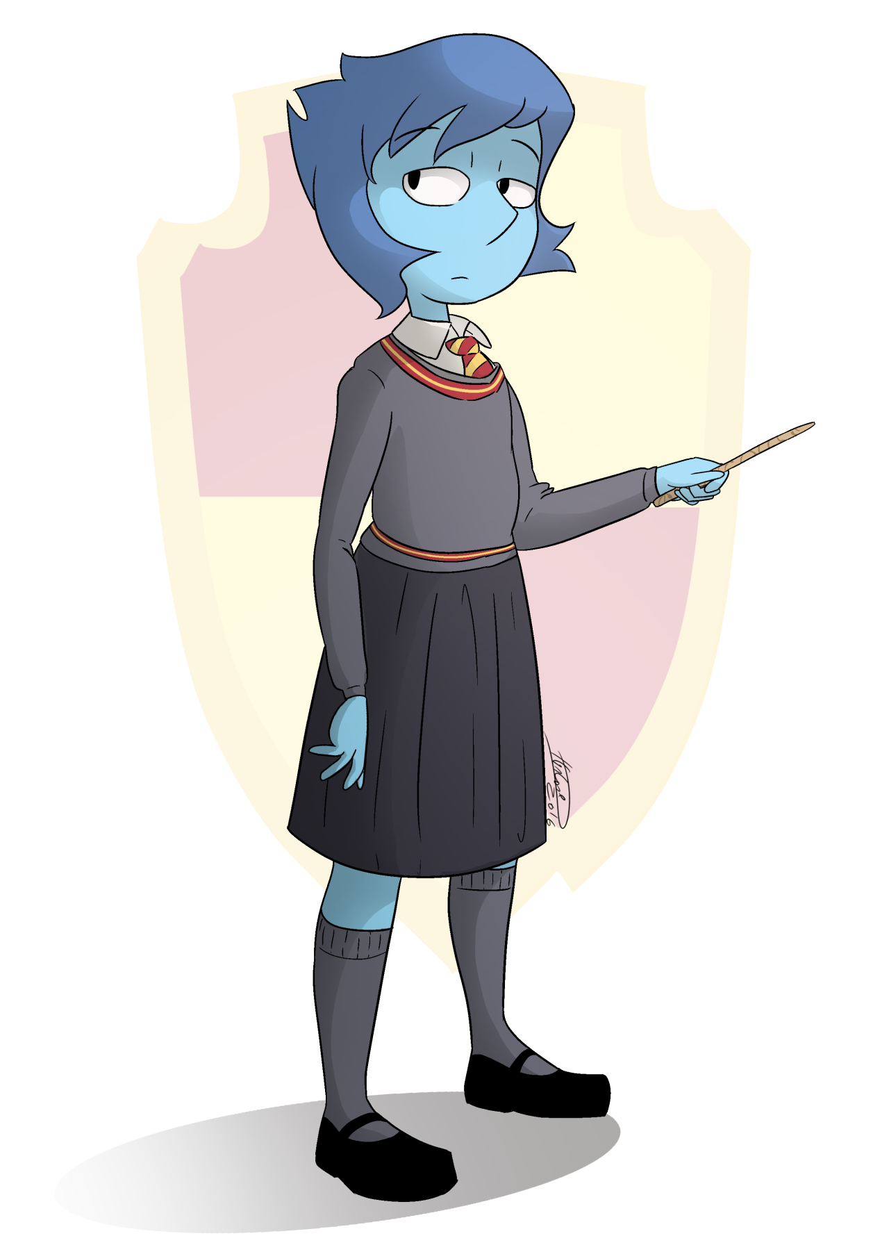 Lapis/Hermione,Hogwarts AU thanks to @bigwolfchef who give me the idea ;3 I was going to do some doodle but Lapis inspired me x3