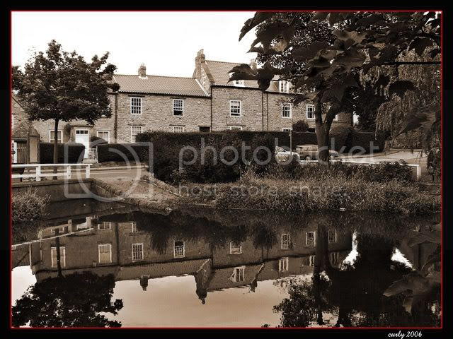 picture of the pond, Cleadon Village, nr South Shields