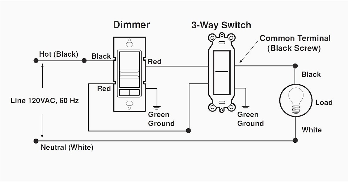 Single Pole Leviton Dimmer Switch Wiring Diagram