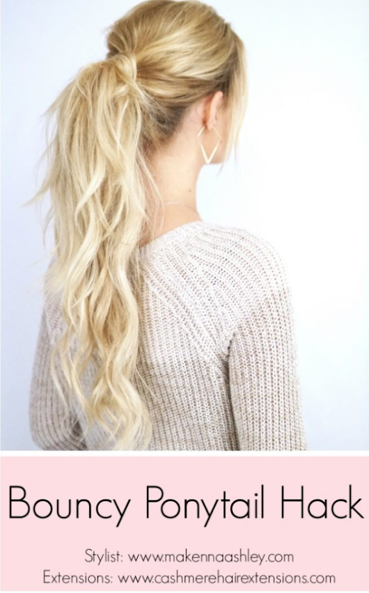 Bouncy Ponytail Hack | Cashmere Hair Clip In Extensions