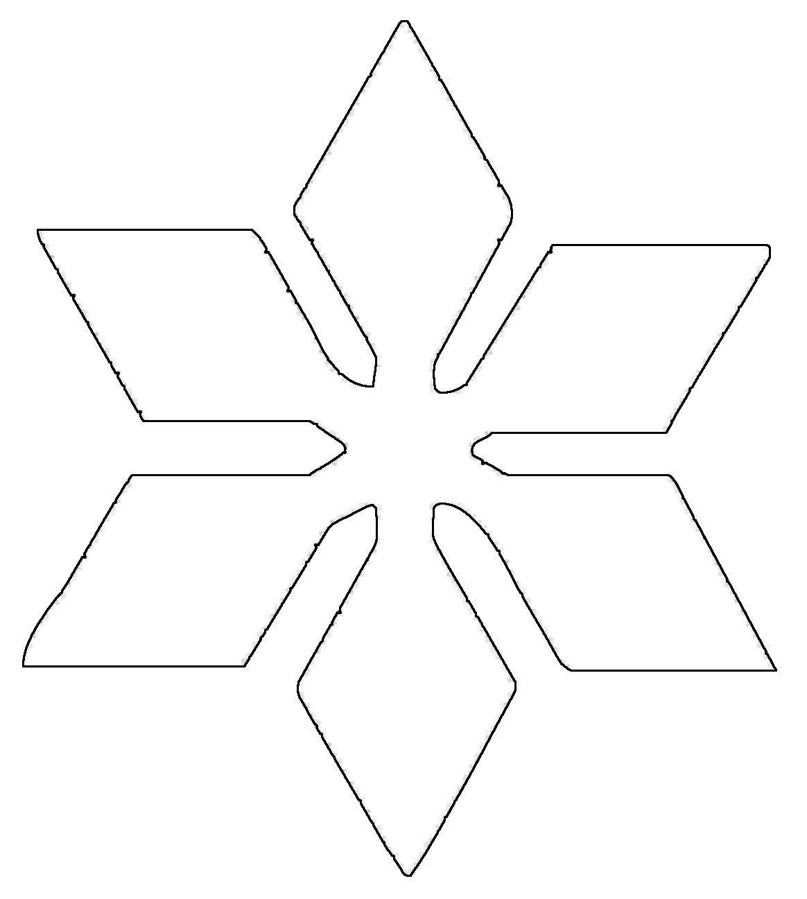 Kostenlose Malvorlage Schneeflocken und Sterne: Stern 8 ...