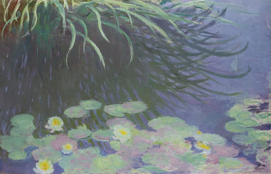 Claude Monet Nymphéas avec reflets de hautes herbes. 1914