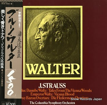 WALTER, BRUNO j.strauss; the blue danube waltz