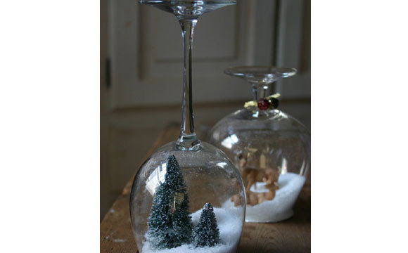 Você pode utilizar sal grosso para fazer o efeito de neve (Fotos: Reprodução)